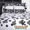 涤棉印染布 涤棉坯布印花布  床品面料
